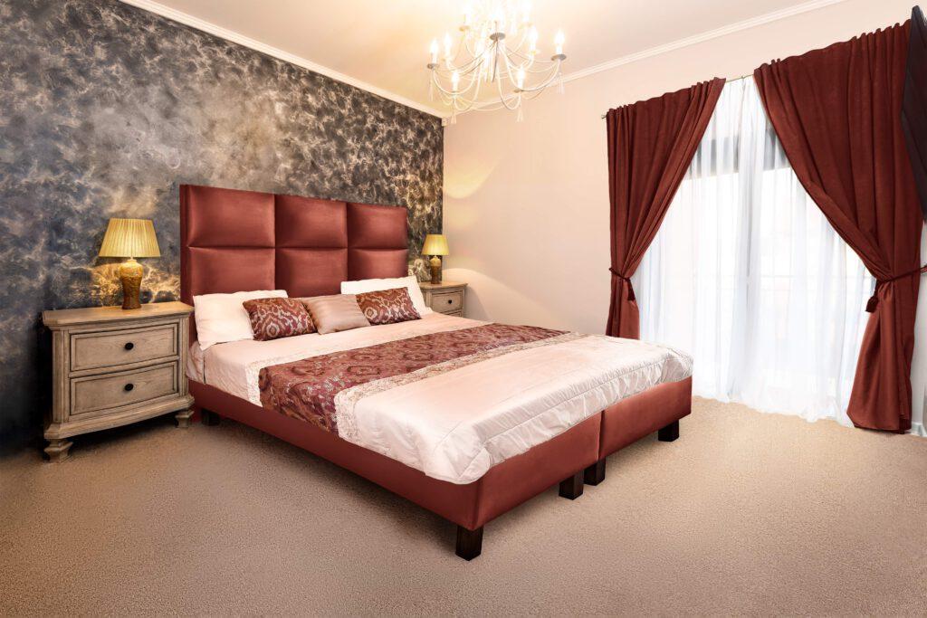 composit pat dormitor tablie draperie lenjerie